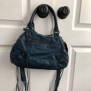 Authentic Midnight Blue Balenciaga Bag.